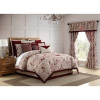 Veratex Allouette Medallion 4 Piece Comforter Set