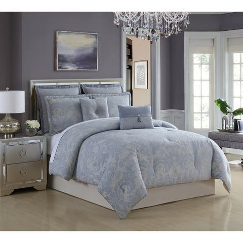 Veratex Brielle Chenille Medallion 4 Piece Comforter Set