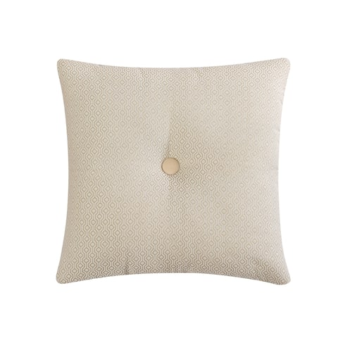 Veratex Brielle Button 18 inch Decorative Throw Pillow