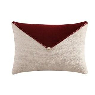 Veratex Allouette Button 14 x 20 Lumbar Throw Pillow