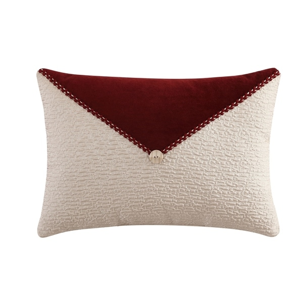 Veratex Allouette Button 14 x 20 Lumbar Throw Pillow