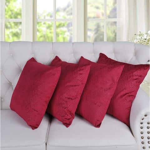 Porch & Den Tonopah Ikat Velvet Throw Pillow Cover Set