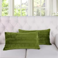 Serenta Pleated Velvet Decorative Throw Pillow Cover (set of 2 or 4)