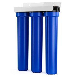 iSpring WCB32O Whole House 3-Stage Water Filter System with Oversized Fine Sediment and Double Premium Carbon Block