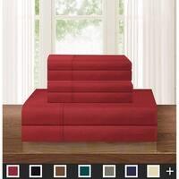Elegant Comfort Solid 6-PIECE Sheet Set with Deep Pockets & Hypoallergenic