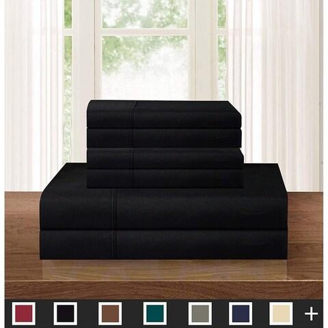 Elegant Comfort Ultra-Soft Solid 5-PIECE Sheets with Deep Pockets - Split King - Split King