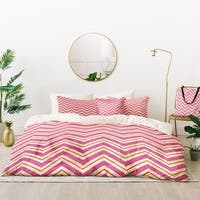 Deny Designs Berry Pop Chevron Duvet Cover Set (5 Piece Set)