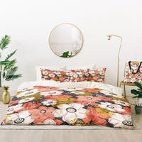 Deny Designs Petals and Pods Duvet Cover Set (5 Piece Set)