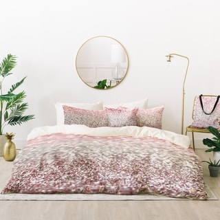 Deny Designs Girly Pink Sparkle Duvet Cover Set (5 Piece Set)