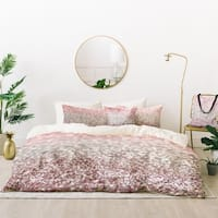 Deny Designs Girly Pink Sparkle Duvet Cover Set (5 Piece Set)