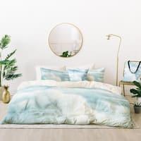 Deny Designs Blue Clouds Duvet Cover Set (5 Piece Set)