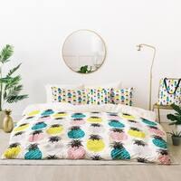 Deny Designs Pineapple Pastel Duvet Cover Set (5 Piece Set)