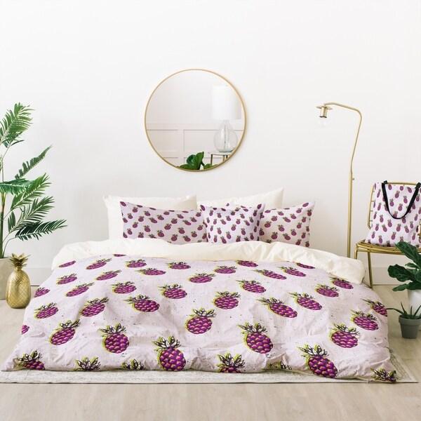 Deny Designs Purple Pineapples Duvet Cover Set (5 Piece Set)