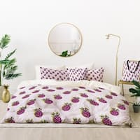 Deny Designs Purple Pineapples Duvet Cover Set (5 Piece Set)