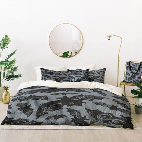 Deny Designs Bats at Night Duvet Cover Set (5 Piece Set)