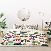 Deny Designs Moths and Butterflies Duvet Cover Set (5 Piece Set)
