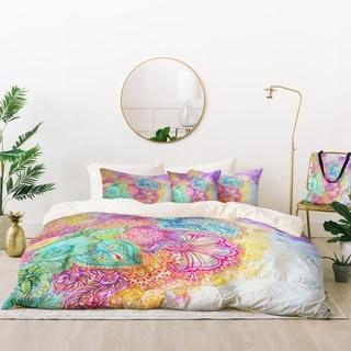 Deny Designs Flourish Flowers Duvet Cover Set (5 Piece Set)