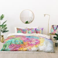 Deny Designs Flourish Flowers Duvet Cover Set (5 Piece Set)