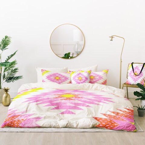 Deny Designs Southwest Pink Duvet Cover Set (5 Piece Set)