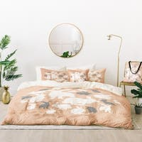 Deny Designs Nordic Bunny Duvet Cover Set (5 Piece Set)