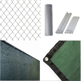 Link to ALEKO Galvanized Steel Chain Link Fence 5X50 ft Complete Kit with Fence Screen Similar Items in Yard Care