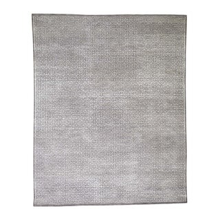 """Shahbanu Rugs Taupe Modern Wool And Silk Hand Knotted Oriental Rug (8'0"""" x 10'0"""") - 8'0"""" x 10'0"""""""