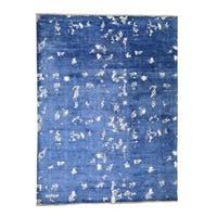 "Shahbanu Rugs Hand Knotted Modern Tone on Tone Art Silk Oriental Rug (9'0"" x 12'0"") - 9'0"" x 12'0"""
