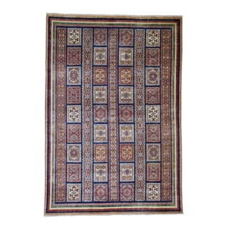 "Shahbanu Rugs Super Kazak Pure Wool Hand Knotted Oriental Rug (5'8"" x 8'2"") - 5'8"" x 8'2"""