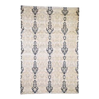 "Shahbanu Rugs Ikat Design Pure Wool Hand Knotted Oriental Rug (5'10"" x 8'7"") - 5'10"" x 8'7"""