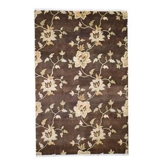 "Shahbanu Rugs Modern Nepali Pure  Wool Hand Knotted Oriental Rug (5'6"" x 8'6"") - 5'6"" x 8'6"""