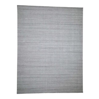 "Shahbanu Rugs Pure Wool Grass Design Hand-Loomed Oriental Rug (9'0"" x 12'0"") - 9'0"" x 12'0"""