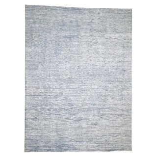 """Shahbanu Rugs Oversize Silk With Oxidized Wool Gabbeh Design Hand-Knotted Rug (9'0"""" x 12'0"""") - 9'0"""" x 12'0"""""""
