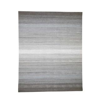 "Shahbanu Rugs Pure Wool Grass Design Hand-Loomed Oriental Rug (7'10"" x 9'10"") - 7'10"" x 9'10"""