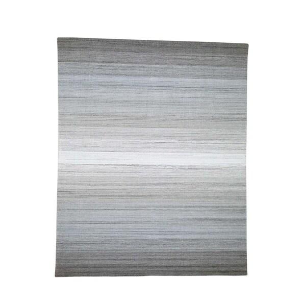 "Shahbanu Rugs Pure Wool Grass Design Hand-Loomed Oriental Rug (8'0"" x 10'0"") - 8'0"" x 10'0"""