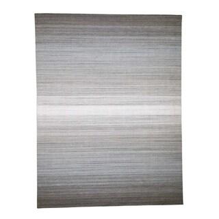 "Shahbanu Rugs Pure Wool Grass Design Hand-Loomed Oriental Rug (9'0"" x 11'10"") - 9'0"" x 11'10"""