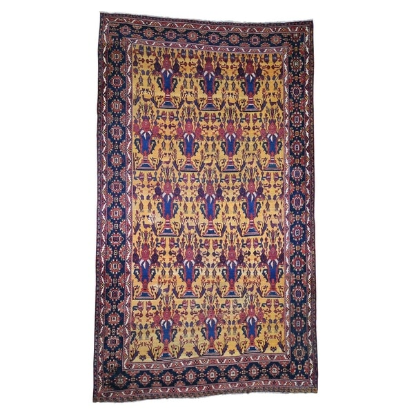"""Shahbanu Rugs Antique Persian Gallery Size Bakhtiari Pure Wool Hand-Knotted Rug (10'4"""" x 17'7"""") - 10'4"""" x 17'7"""""""