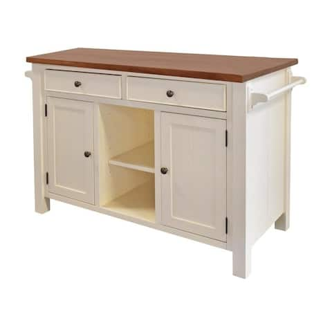 222 Fifth Atlantic White Kitchen Island