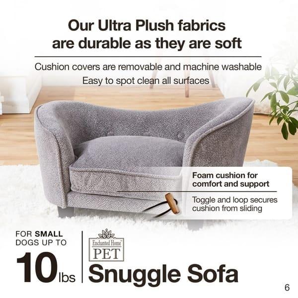 Groovy Shop Enchanted Home Pet Snuggle Sofa Abstract Grey Free Creativecarmelina Interior Chair Design Creativecarmelinacom