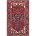Vintage Hamadan Wool Area Rug - 4' x 6'7