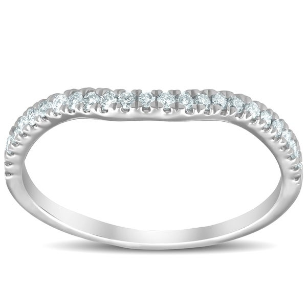 Shop Pompeii3 10k White Gold 1/4 Ct TDW Diamond Contour