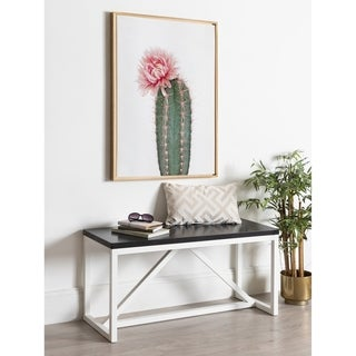 Amy Peterson 'Pink Cactus Flower' Framed Canvas Wall Art