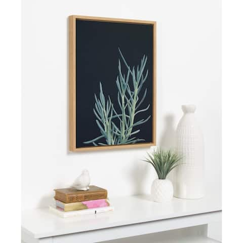Kate and Laurel Sylvie Succulent 16 Framed Canvas by F2 Images