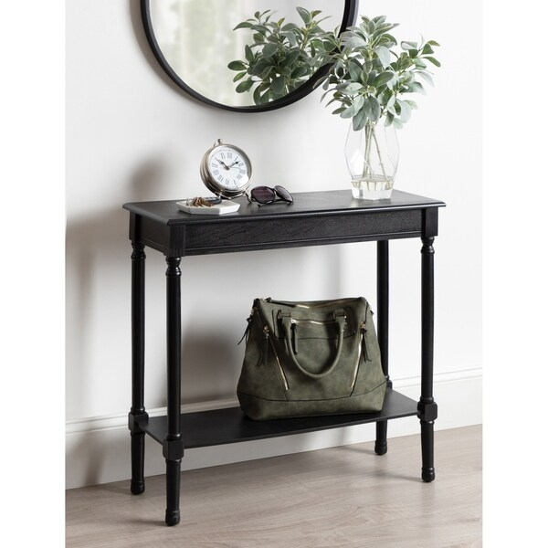 Kate and Laurel Wyndmoore Wood Console Table - 31.5x11.75x30