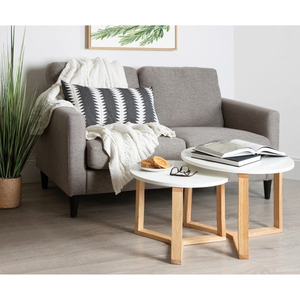 Kate and Laurel Rioux Wood Nesting Tables (Set of 2)