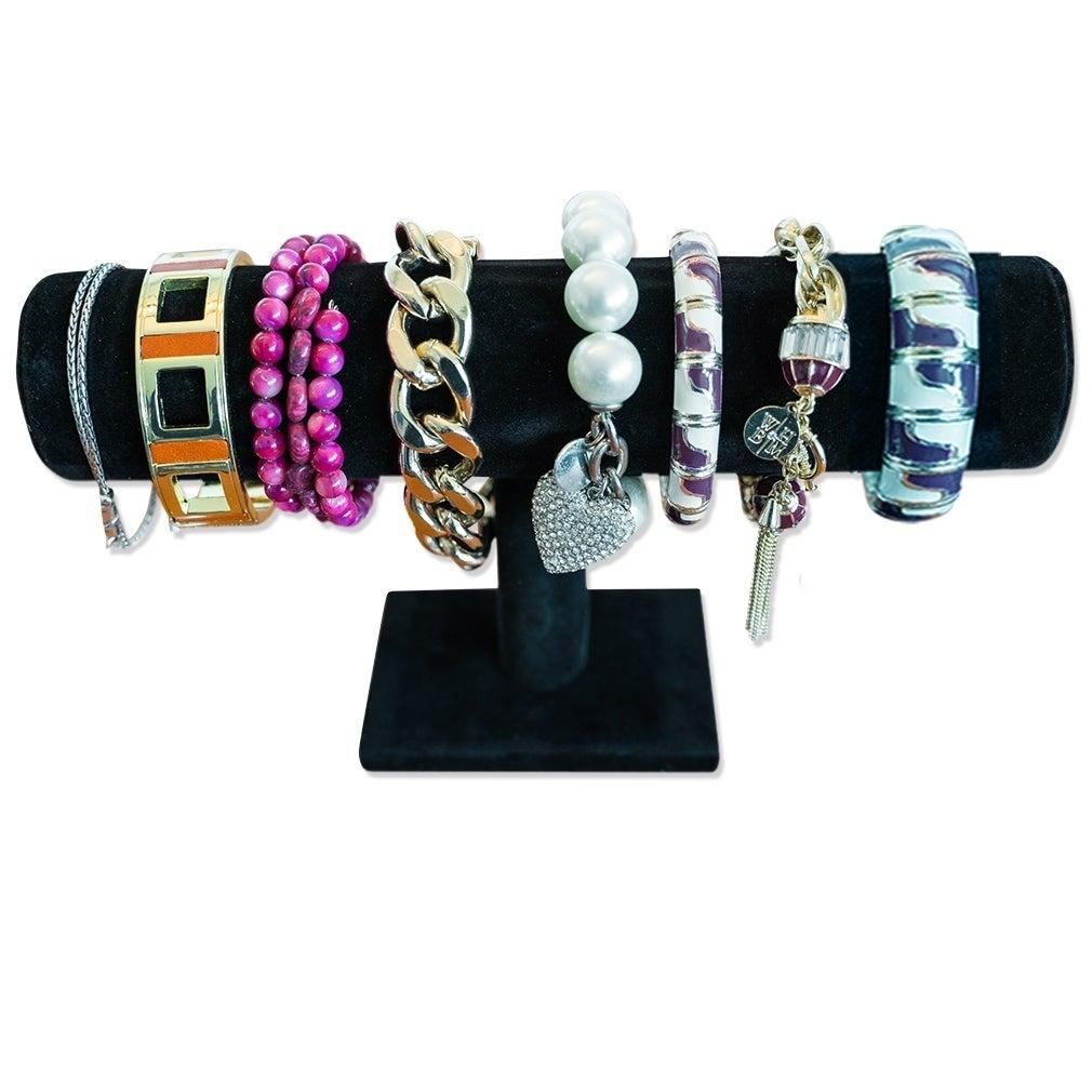 VELVET TWO LEVEL BRACELET RACK holder displays counter jewelry display racks new