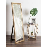 Kate and Laurel Aika Goldtone 18-inch x 58-inch Freestanding Floor Mirror with Easel