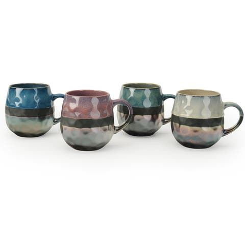 Signature Housewares Sarah Set of Four 17-Ounce Mugs