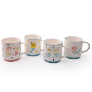 Link to Signature Housewares Mer Cat Set of Four Assorted 16-Ounce Mugs Similar Items in Dinnerware