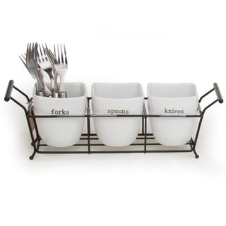 Signature Housewares Expressions Flatware Storage Holder