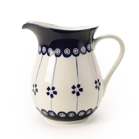 Signature Housewares Blue Pottery 62-Ounce Pitcher